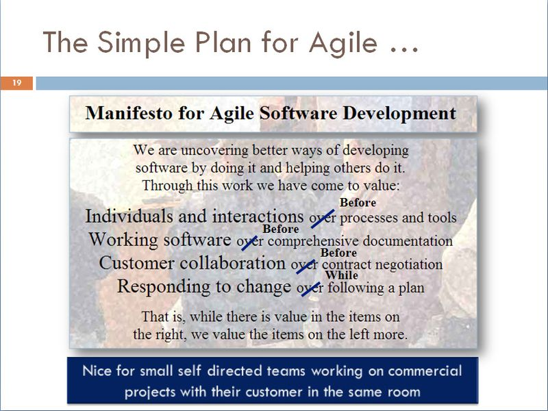 Simple Fix of the Agile Manifesto