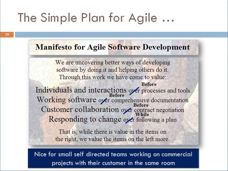 Simple Fix of the Agile Manifesto