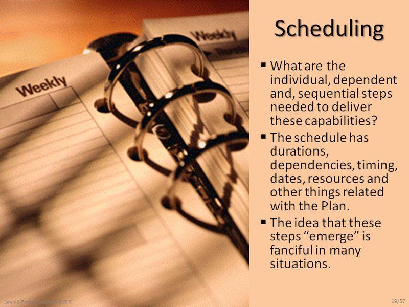 Then Schedule