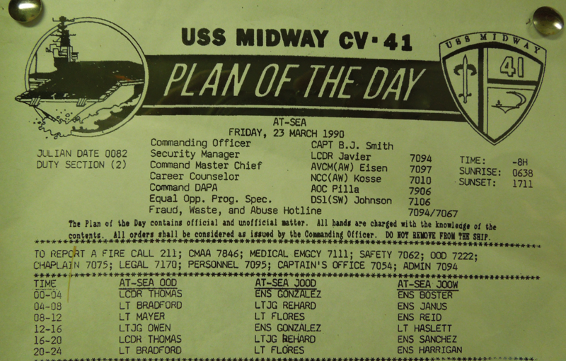 Plan of the Day