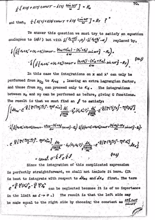 Feynman Thesis Page